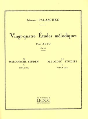 Johannes Palaschko - 24 Melodic studies op. 77 - Sheet Music - di-arezzo.co.uk