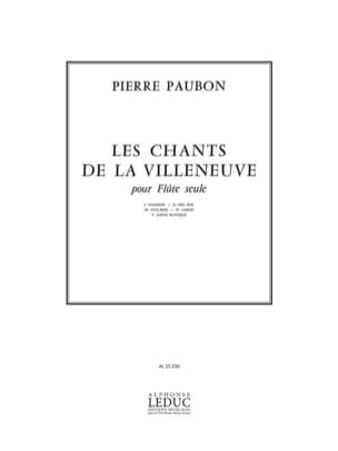 Pierre Paubon - Chants De La Villeneuve - Partition - di-arezzo.fr