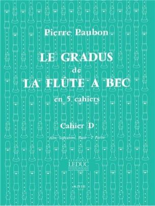 Pierre Paubon - La graduación de la flauta à Bec - Cahier D - Partitura - di-arezzo.es