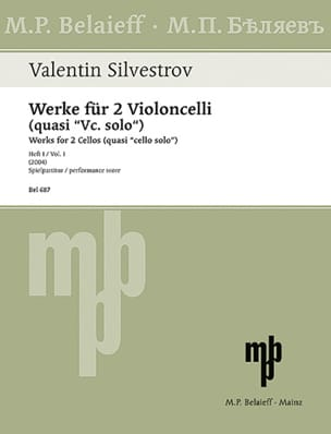 Valentin Silvestrov - Works for 2 Cellos - Vol. 1 - Sheet Music - di-arezzo.com