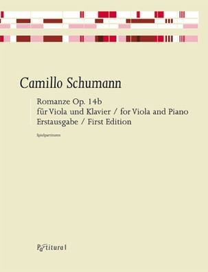 Camillo Schumann - Romance, op. 14b - Alto et Piano - Partition - di-arezzo.fr
