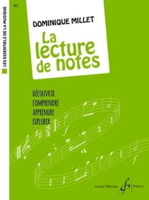 La Lecture de Notes - Dominique Millet - Partition - laflutedepan.com