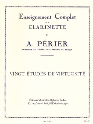 Auguste Périer - 20 Virtuosity studies - Sheet Music - di-arezzo.co.uk
