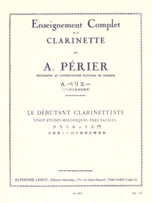 Auguste Périer - The Clarinetist Beginner - Sheet Music - di-arezzo.com
