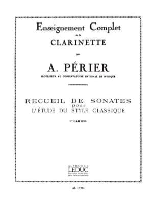 Recueil de Sonates - Volume 1 Auguste Périer Partition laflutedepan