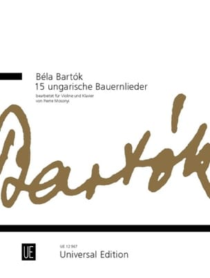 BARTOK - 15 Ungarische Bauernlieder - Violine - Partitura - di-arezzo.es