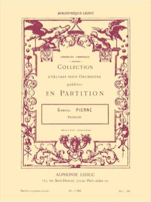 Gabriel Pierné - Pastorale op. 14 n° 1 - Conducteur + parties - Partition - di-arezzo.fr
