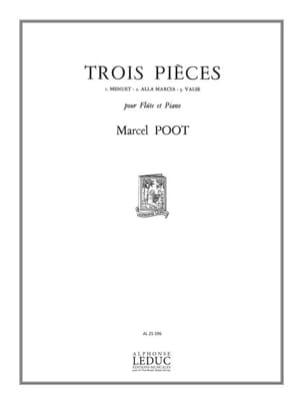 3 Pièces - Flûte piano - Marcel Poot - Partition - laflutedepan.com