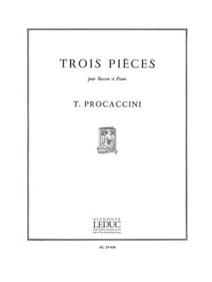 3 Pieces Procaccini Partition Basson - laflutedepan