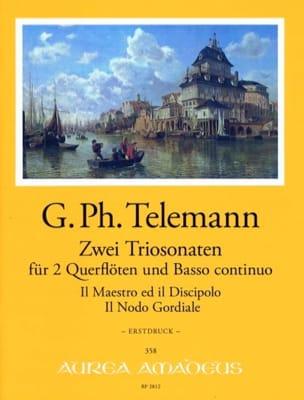 2 Trio-Sonates - Georg Philipp Telemann - Partition - laflutedepan.com
