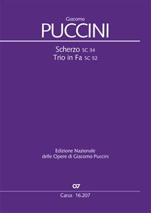Scherzo - Trio en Fa - Giacomo Puccini - Partition - laflutedepan.com