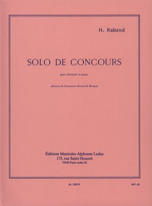 Henri Rabaud - Solo Competition Op. 10 - Sheet Music - di-arezzo.co.uk