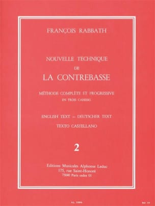François Rabbath - Nouvelle technique de contrebasse, Volume 2 - Partition - di-arezzo.fr
