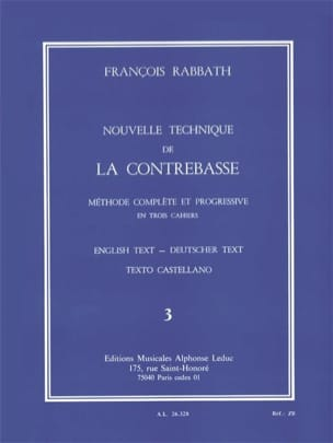 François Rabbath - New Double Bass Technique Volume 3 - Sheet Music - di-arezzo.com