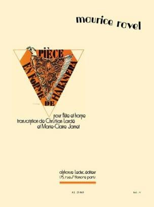 Maurice Ravel - Pièce en forme de Habanera - Flûte Harpe - Partition - di-arezzo.fr
