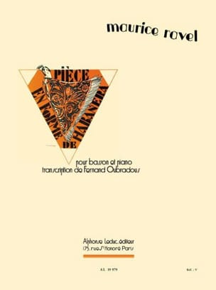 Ravel Maurice / Oubradous Fernand - Piece en forme de Habanera - Basson - Partition - di-arezzo.fr