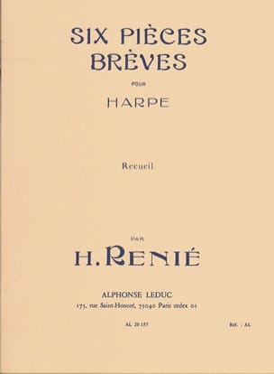 6 Pieces Breves Henriette Renié Partition Harpe - laflutedepan