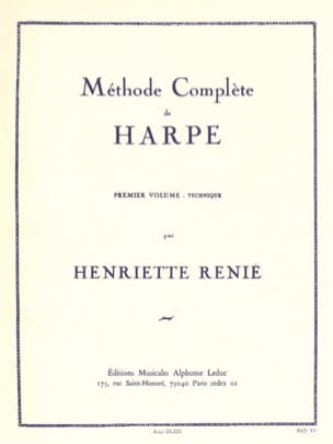 Methode de harpe - Volume 1 Henriette Renié Partition laflutedepan