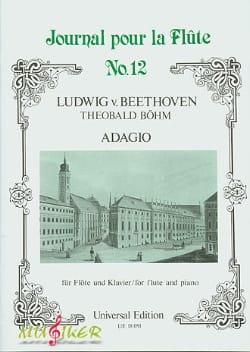 BEETHOVEN - Adagio - Flûte et piano - Partition - di-arezzo.fr