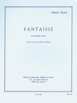Pierre Revel - Fantaisie - Partition - di-arezzo.fr