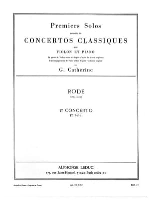Rode Pierre / Catherine Georges - 1st Solo of the Concerto n ° 1 - Sheet Music - di-arezzo.co.uk