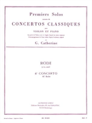 Rode Pierre / Catherine Georges - 1st solo of Concerto n ° 4 - Sheet Music - di-arezzo.com