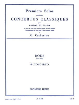 Rode Pierre / Catherine Georges - 1st Solo of the Concerto n ° 6 - Sheet Music - di-arezzo.co.uk