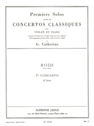 Rode Pierre / Catherine Georges - 1st Solo of the Concerto n ° 7 - Sheet Music - di-arezzo.co.uk