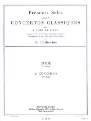 Rode Pierre / Catherine Georges - 1st Solo of the Concerto No. 8 E minor op. 13 - Sheet Music - di-arezzo.com