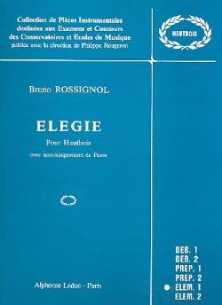 Elégie - Bruno Rossignol - Partition - Hautbois - laflutedepan.com