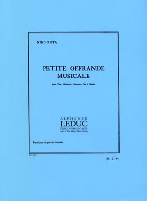 Nino Rota - Small Musical Offering - Partition Parts - Sheet Music - di-arezzo.co.uk