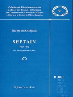 Septain - Flûte et Piano Philippe Rougeron Partition laflutedepan