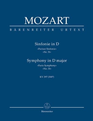 MOZART - Symphony D-Hard Pariser Sinfonie KV 297 - Sheet Music - di-arezzo.co.uk