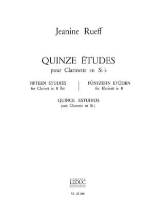 15 Etudes Jeanine Rueff Partition Clarinette - laflutedepan