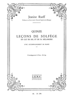 Jeanine Rueff - 15 Lecons of music theory - Accomp. - Sheet Music - di-arezzo.co.uk