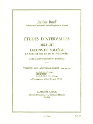 Jeanine Rueff - Interval Studies - Accompaniment - Sheet Music - di-arezzo.com