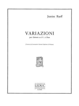 Variazioni - Jeanine Rueff - Partition - Clarinette - laflutedepan.com