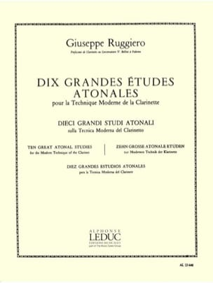 Giuseppe Ruggiero - 10 Major atonal studies - Sheet Music - di-arezzo.co.uk