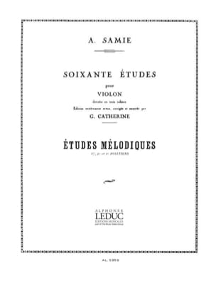 A. Samie - 60 Etudes, Volume 3 - Melodic studies - Sheet Music - di-arezzo.co.uk