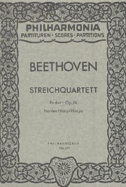 BEETHOVEN - Streichquartett Es-Dur op. 74 - Partitur - Sheet Music - di-arezzo.co.uk