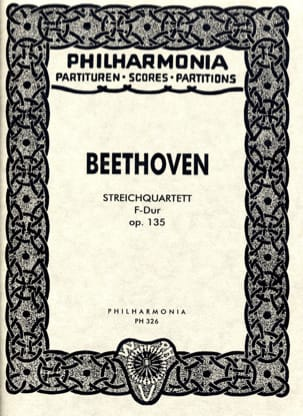 BEETHOVEN - Streichquartett F-Dur op. 135 - Partitur - Sheet Music - di-arezzo.co.uk