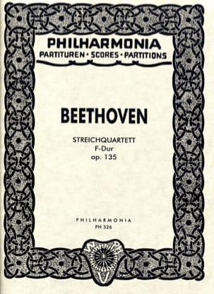 Ludwig van Beethoven - Streichquartett F-Dur op. 135 – Partitur - Partition - di-arezzo.fr