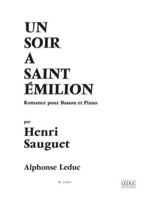 Henri Sauguet - Un soir à Saint Emilion - Partition - di-arezzo.fr