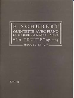 SCHUBERT - Quintette op. 114 La Truite - Conducteur - Partition - di-arezzo.fr