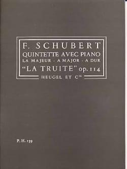 SCHUBERT - Quintet op. 114 The Trout - Driver - Sheet Music - di-arezzo.co.uk