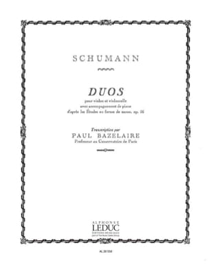 SCHUMANN - Duos - Violin cello piano - Sheet Music - di-arezzo.com