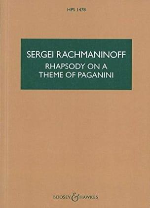Sergei Rachmaninoff - Rhapsody On A Theme Of Paganini - Sheet Music - di-arezzo.com
