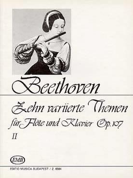 Zehn Variierte Themen II op.107 - BEETHOVEN - laflutedepan.com