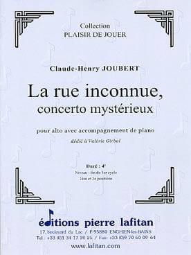 Claude-Henry Joubert - La Rue inconnue - Partition - di-arezzo.fr