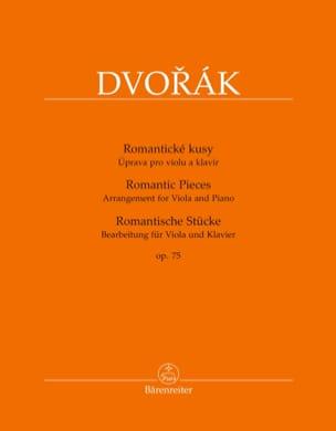 Pièces Romantiques, op. 75 DVORAK Partition Alto - laflutedepan